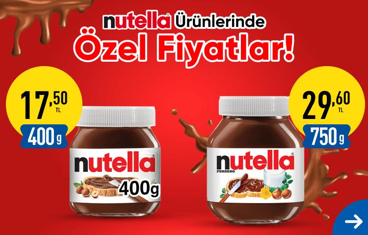 Nutella ürünlerinde özel fiyatlar