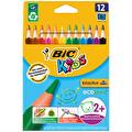 Bic Kids Evolution Üçgen 12'li Kuru Boya Kalemi