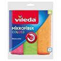Vileda Colors 3'lü %100 Mikrofiber Temizlik Bezi