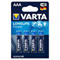 Varta Longlife Power Alkalin AAA 4'lü İnce Pil