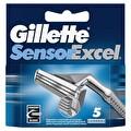 Gillette Sensor Excel Yedek Tıraş Bıçağı 5'li