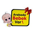 Arabada Bebek Var Sticker