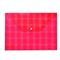 Faber Castell Desenli Çıtçıtlı Dosya Kırmızı