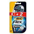 BIC Flex 3 – 3 Bıçaklı Tıraş Bıçağı – 6'lı Blister