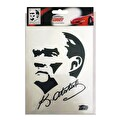 Autokit K.Atatürk Görsel ve İmzalı Araba Sticker