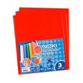 Noki Hazır Yapışkanlı Kitap Kabı Kırmızı 3'lü