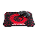 Everest SgM-X8 Usb Siyah gaming Mouse Pad ve Oyuncu Mouse