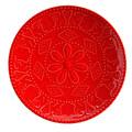 Kütahya Porselen NC Sunflower Düz Kırmızı Tabak 20 cm