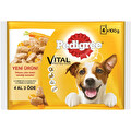 Pedigree Multipack Biftek & Kuzu - Hindi & Havuç Köpek Pouch 4x100 g