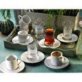 Kütahya Seramik Ekose Çay-Kahve Seti 18 Parça