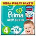 Prima Aktif Bebek Mega Fırsat Paketi 4 Beden 74'lü