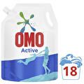 Omo Pouch Active Beyazlar ve Renkliler İçin 18 Yıkama 1170  ml