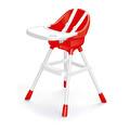 Dolu Bebek Mama Sandalyesi Kırmızı