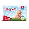 Baby Turco 4 Maxi  Bebek Bezi 44'lü