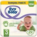 Evy Baby Bebek Bezi 3 Beden Midi Tanışma Paketi 24 Adet