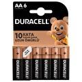 Duracell Basic AA 6'lı Pil