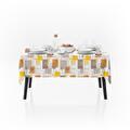 Pvc Masa Örtüsü Kafe Tartan Sarı 140x140 cm