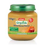 Milupa Organik Elma Havuç Püresi 125Gr