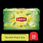 Lipton Yeşil Çay Bardak Poşet Limonlu 20'li