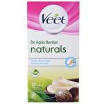Veet Kolay Kullanım Soğuk Ağda Bantları Naturals 12'li (Beyaz-Yeşil)