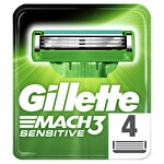 Gillette Mach3 Sensitive Yedek Tıraş Bıçağı 4'lü