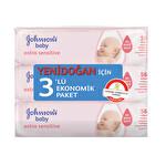 Johnson's Baby Parfümsüz 3'lü Islak Mendil