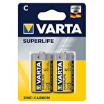 Varta Superlife 2xC Orta Boy Pil