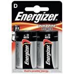 Energizer Alkalin Pil D 2'li