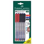 Faber Castell 10'lu Karışık Renkli Tükenmez Kalem