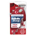 Gillette Blue 3 Milli Takım Özel Paketi Tıraş Bıçağı 6+2