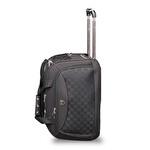 CCS-076.1 Kumaş 2 Tekerlekli Siyah Valiz 55 cm