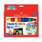F.C 10 Renk Multi Crayon Pastel Boya Bl