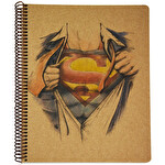 Superman Kraft A4 100 Yapraklı Çizgili Defter