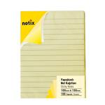Notix Pastel Sarı Çizgili 100 Yaprak 100x150