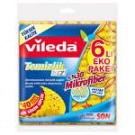 Vileda %30 Mikrofiberli Temizlik Bezi 6'lı Kir Söken Cepler