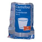 Carrefour 10'lu 180 cc Plastik Bardak Beyaz