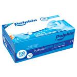 Dolphin Pudrasız Nitril Muayene Eldiveni Mavi Large 100 adet