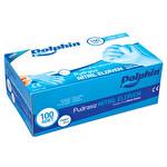 Dolphin Pudrasız Nitril Muayene Eldiveni Mavi Medium 100 adet