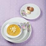 Güral Porselen Pembe Çicek Desenli Yemek Takımı 24 Parça