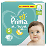 Prima Bebek Bezi Aktif Bebek 5 Beden Junior Ekonomik Paket 29 Adet