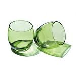Paşabahçe Barrel Yeşil Su Bardağı 3'lü