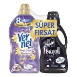 Vernel Max Yumuşatıcı Nergiz&Lavanta 1440 ml + Perwoll Siyah Çamaşır Deterjanı 1 lt