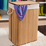 Handy Mate Bambu Çamaşır Sepeti-Beyaz-Na