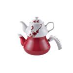 Schafer Teegarten Kırmızı Emaye Çaydanlık