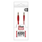 Trust 1M Düz Ses Kablosu - Kırmızı