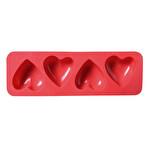 4'lü Kalıp Kalp Silikon