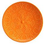 Kütahya Porselen NC Sunflower Düz Turuncu Tabak 20 cm
