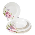 Güral Porselen Bone Çiçek Desenli Yemek Takımı 24 Parça