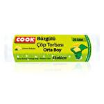 Cook Büzgülü Çöp Torbası Orta Boy-Limonlu