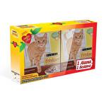 Friskies Etli,Tavuklu ve Sebzeli Yetişkin Kedi Maması 300 g 1+1 Promo Paket